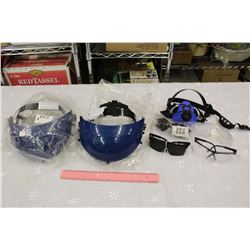 Lot of Work Safety Gear (Faceshield Crowns, Glasses, Respirator,Etc)