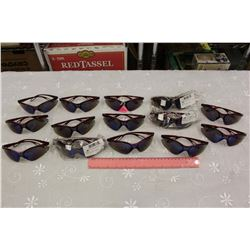 Lot of U.S Safety Red and Blue Mirror Eyewear