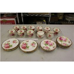 American Beauty Royal Albert Bone China Set