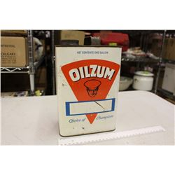 Oilzum Automotive Lubricants One Gallon Tin