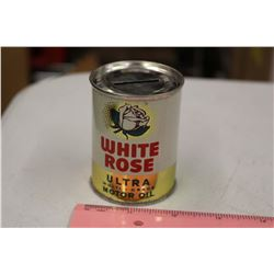 White Rose Oil Tin Coin Bank