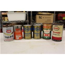 Lot of Old Oil Tins (6)