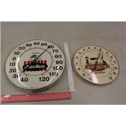 Advertising Thermometers (2)(1 w/No Glass)