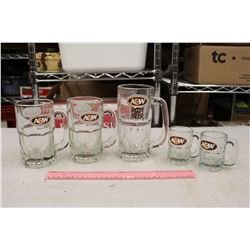 A&W Rootbeer Mugs (5)