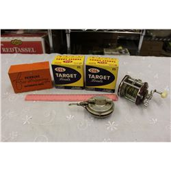 Old Fishing Reels & Shell Boxes (Empty Boxes)