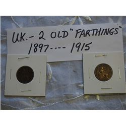 UK Farthings (2) (1897, 1915)