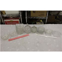 Lot of Crystal Glassware