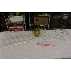 Huge Lot of Wine Glasses & A Jug