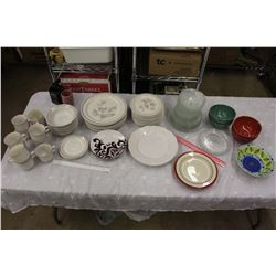 Huge Lot of Dishes (Plates, Mugs, Bowls, Etc)