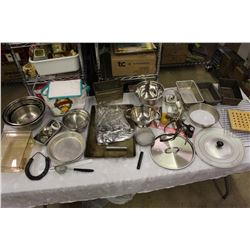 Huge Lot of Metal Kitchenware