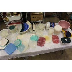 Huge Lot Of Plastic Containers (Tupperware, Ziploc, Etc)