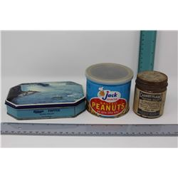 Riley's Toffee Tin, Jack Peanuts Tin & Mustard Balm