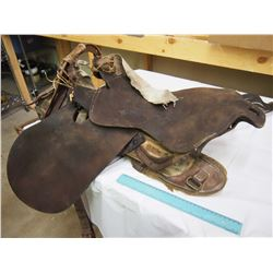 Antique 1st World War Military Saddle