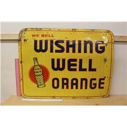 "Wishing Well Orange Sign (28.5""x21.5"")"