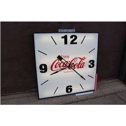 Large Enjoy Coco-Cola Clock (Working Condition)(38.5 x3.5 x38.5 )