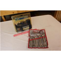 12 V Air Compressor (NIB)& A 5 Piece Wrench Set