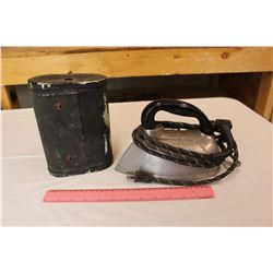 Eveready Telephone Dry Cell Batteries& A Vintage Silex Electric Steam Iron