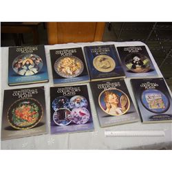 Lot Of Collector Plates Books (8)