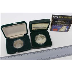 1999 Proof Dollar Queen Charlotte Islands Coin& A 1984 Jacques Cartier Silver Dollar Coin