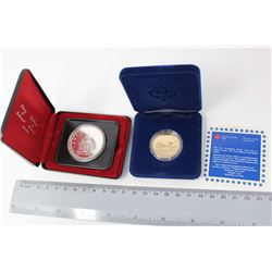 RCM Coins (2): 1876-1976 Liberty of Parliment Silver Dollar& A 1987 New Circulating Dollar
