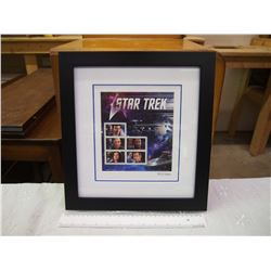 Limited Edition Framed Stamp Pane, Star Trek Captains, Canada Post (0513 out of 1000)