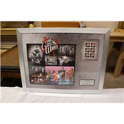Limited Edition Framed Stamp Pane, The Guess Who, Canada Post (419 of 750)