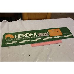 Herdex Sows Calculator Display