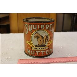 Vintage Squirrel Peanut Butter Tin
