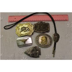 Lot Of Assorted Belt Buckles