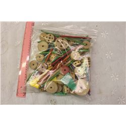 Bag Full Of Tinkertoy Parts