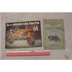 Vintage Massey Harris Part List And Case Brochure