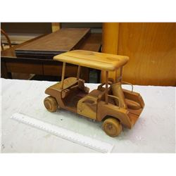 Wooden Golf Cart Toy