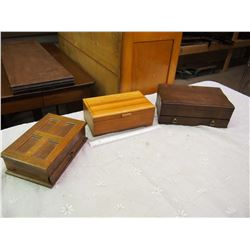 Lot Of Vintage Jewellery Boxes (3)