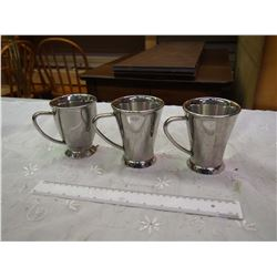 Set Of 3 Mardeno Stainless Steel Cps