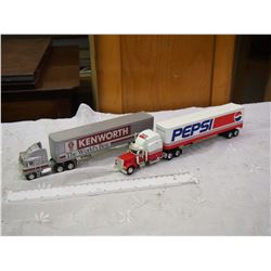 Pair Of Die Cast Semi Models (Smaller)