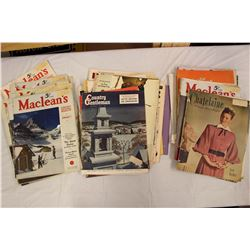 Lot of Vintage Magazines (Various Dates 1930's-60's)
