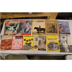 Lot of Vintage Magazines, Booklets, Etc