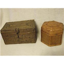 Vintage Wicker Boxes (2)