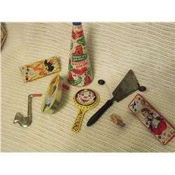 Vintage Tin Noise Makers 1930's-40's