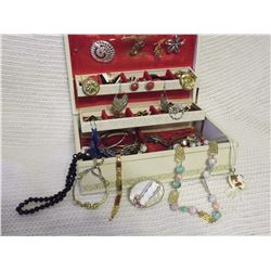 Jewel Box Full Of Estate Jewellery (Mostly Older Pieces)