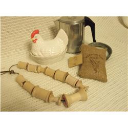 Misc. Kitchen Items W/ Chicken On Nest