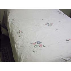 Embroidery & Battenburg Design Duvet Cover, Fullsize