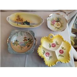 4 Ornate Candy Dishes, Made In Japan
