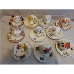 10 Cups And Saucers Sets