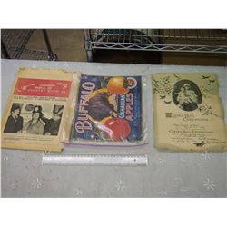 Lot Of Vintage Print Related