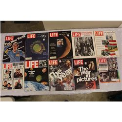 Lot Of Vintage Life Magazines