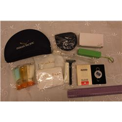 Lot Of Misc. (Indian Pacific Travel Kit, Radisson Power Bank, Zippo Key Ring)\