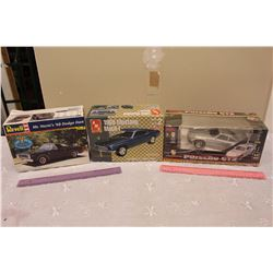 Lot of Car Models (3)(Porsche GT2, Mustang Mach 1, Dodge Dart)