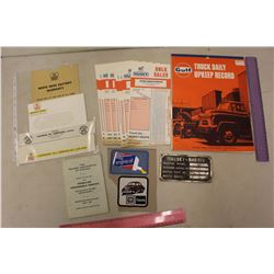 White Rose Items, Gulf Truck Record Book, Massey Harris Decal, Etc