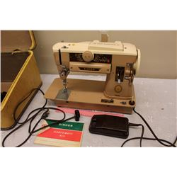 Vintage Singer Slant-O-Matic 401 Sewing Machine